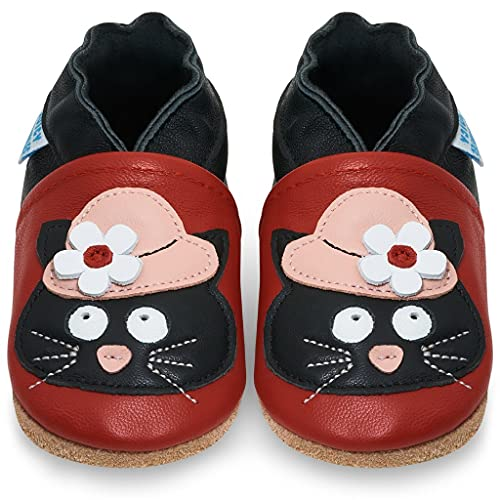 Juicy Bumbles Lauflernschuhe - Krabbelschuhe - Babyhausschuhe - Katze mit Hut 18-24 Monate (Größe 24/25)
