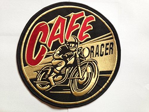 Extra große Cafe Racer Aufnäher Bügelbild Aufbügler Aufnäher 250mm Patch Biker Motorrad