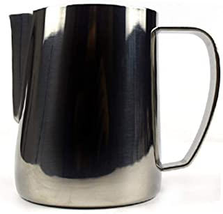 MIGHTYDUTY Stainless Steel Frothing Pitcher 12/20 oz, Milk Frothing Pitcher Jug 350 / 600ml, Espresso Steaming Pitchers fo...