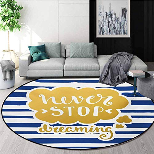 Great Deal! RUGSMAT Quote Computer Chair Floor Mat,Marine Themed Inspirational Phrase for Life Navy ...