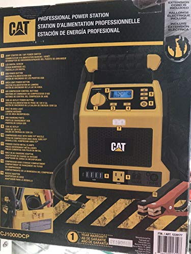 CAT - 3 in 1 Professional Power Station with Jump Starter and Compressor - 4 USB Ports and Outlet