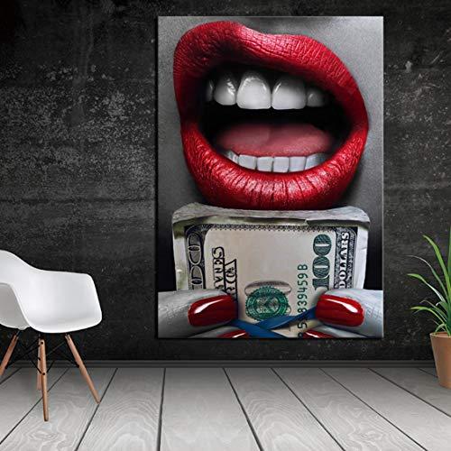 Danjiao Drucke Und Plakatfrau Mit Gelddruck Wandölgemälde Bilddruck Auf Leinwand Keine Rahmenidee Hauptdekoration Wohnzimmer 60x90cm