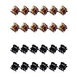Voarge 24 Pezzi Mini Capelli Artiglio Pinze di Plastica Capelli Artiglio Spilla, per Artigli per Capelli per Ragazze e Donne(Nero e Marrone)
