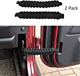 ZGAUTO Fits for Jeep Wrangler | Paracord Door Limiting Straps CJ YJ TJ JK | 550 Pound Strength Durable Swing Limiter Restrictor Pair (2 Pieces,Black)