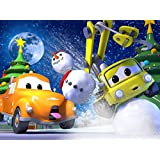 チャックとクリスマスのイルミネーション / クレーン車のベイビーチャーリーがクリスマスツリーに突っ込んじゃった!