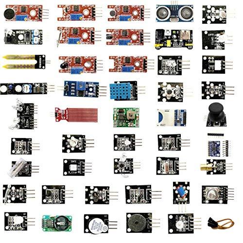 ZYCX123 Sensormodule Set für Raspberry Pi Anfänger Sensoren Module Starter Kit kompatibel mit UNO R3 45PCS Industrieverbrauchsgut