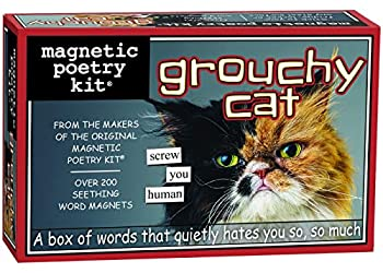 Magnetic Poetry - Grouchy Grumpy Cat Kit - Words for Refrigerator - Write Poems and Letters on The Fridge - Made in The USA