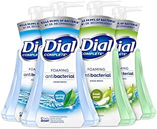 Dial Complete Anti-bacterial Foaming Hand Wash, 60 oz of Foaming Hand Soap. 2-scent Variety Pack Spring Water/Pear, 15 Flu...