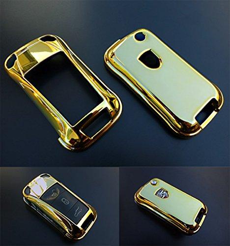 Key Cover Hülle für Klappschlüssel Fernbedienung FFB Gold