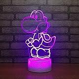 Sproud - Lámpara de mesa 3D con ilusión y USB, para niños y bebés, ideal como luz nocturna, Dinosaurios, Berühren Sie Schalter