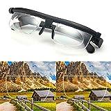 Soudream Esfera Gafas Ajustables Enfoque Variable, Gafas Ajustables Dial 1 a 3n Gafas De Enfoque Variable, Enfoque Gafas De Lectura Ajustables Gafas De Miopía (2 pcs)