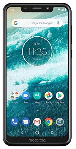 Moto One with Android One (64 GB) 5.9  Max Vision HD+, NFC, Dual Rear Camera, Dual SIM GSM Unlocked Smartphone (International Version) (Black, 64GB + 64GB SD Bundle)