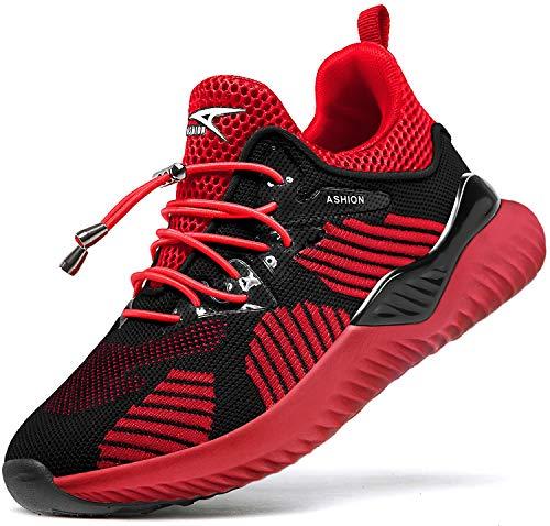Kinder Sportschuhe Jungen Sneaker Mädchen Hallenschuhe Outdoor Laufschuhe Turnschuhe für Unisex-Kinder, 39 EU, S Rot