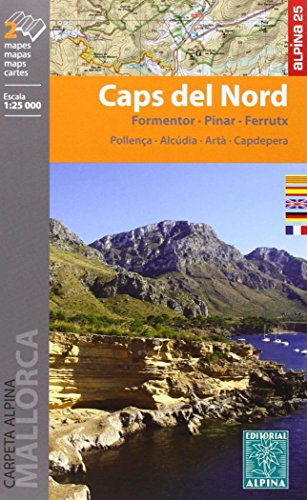 Caps del Nord (Mallorca) Wanderkarte 1 : 25 000 (CARPETA ALPINA - 1/25.000)