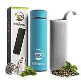 tea efficiency tea tumbler / travel tea mug with strainer / loose leaf tea infuser bottle / fruit...