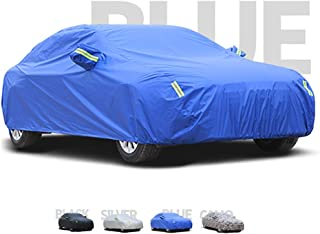 Guoguocy Car Covers, Thick and Cotton Velvet Hood, Compatible with SEAT Alhambra, Can Adapt to All Kinds of Weather (Color : C, Size : 2013 1.8TSI)
