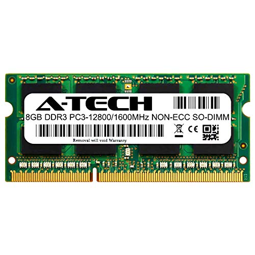 A-Tech 8GB Module for HP 20-c023w All-in-One Compatible DDR3/DDR3L 1600MHz PC3-12800 Non-ECC SODIMM 1.35V - Single Laptop & Notebook Memory RAM Stick (ATMS275390A12351X1)