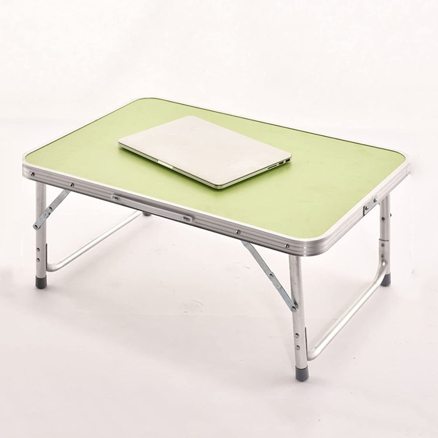 NAN Aluminum Alloy Foldable Simple Laptop Tables Bed Table Lazy Study Small Desk Folding Tables (color   B)