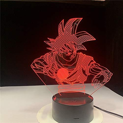 Nur 1 Stück 3d Led Nachtlicht Dragon Ball Z Goku Figur Kame Hame Ha Home Dekoration Kind Geburtstagsgeschenk für Kinder Schlafzimmer Nachtlicht Saiyajin