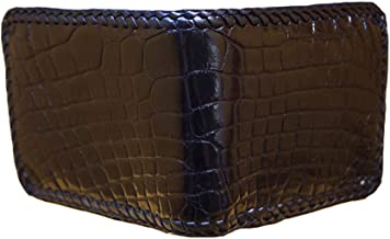 product image for Black Hand Braided Alligator Wallet