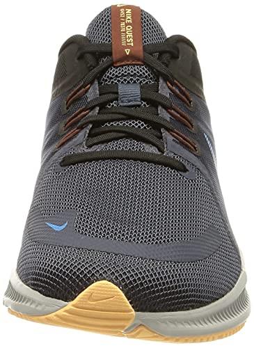 Nike Quest 4, Zapatillas para Correr Hombre, Thunder Blue Lt Photo Blue Black, 44 EU