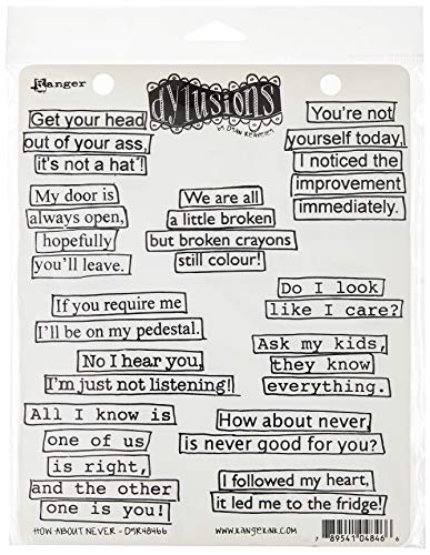 Ranger How About Never Dyan Reaveley's Dylusions Cling Stamp Collections, 8.5' by 7'