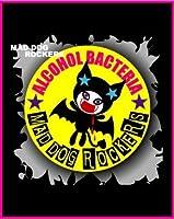 MAD DOG ROCKERSパンク☆ロック系缶バッジ:アルコールバクテリアVR 黄色(イエロー)