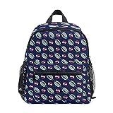 Mini sac à dos d'école, sac à livres pour enfants, garçons, filles, motif ballon de sport, rugby, baseball