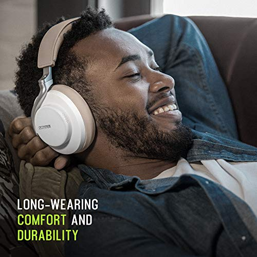 Shure AONIC 50 Wireless Noise Cancelling Headphones, Premium Studio-Quality Sound, Bluetooth 5 Wireless Technology, Comfort Fit Over Ear, 20 Hours Battery Life, Fingertip Controls - White