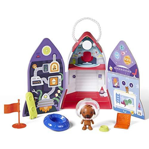 SAGO mini Harvey's Spaceship-Casita Portátil Cohete, Multicolor (Spin Master 6041228)