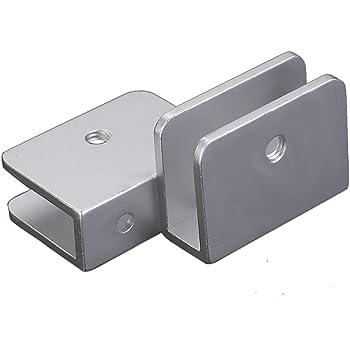 montaje en pared para escalera 4 abrazaderas de cristal inoxidable 304 de acero inoxidable para soporte de vidrio de 6 a 8 mm de grosor ret/ículo de inodoro y balc/ón