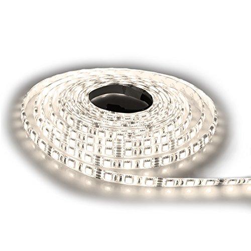 Preisvergleich Produktbild NINETEC Chill60 5m SMD LED Strip Leiste Streifen Warmweiß 60 LED pro Meter - Wasserfest IP65
