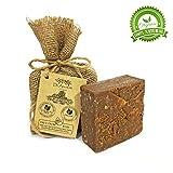 Organische natürliche vegane traditionelle handgemachte antike schwarze Kiefernteer Seife -...