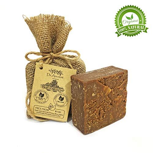 Orgánico natural vegano tradicional hecho a mano antiguo alquitrán de pino barra de negro jabón - Para el acné, picazón en la piel y celulitis - Ningunos productos químicos, jabones puros naturales!