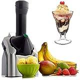 SMEB Máquina para helado portátil a la fruta 1,5 l helado hecho en casa mini máquina para helado pequeño para fruta congelada 200 W