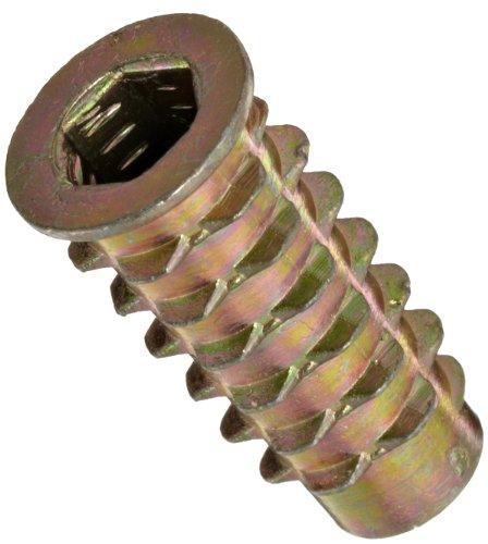 Zinc 0.789 Length 1//4-20 Internal Threads 0.789 Length EZ-Lok 801420-20 Pack of 50 Pack of 50 E-Z Lok Threaded Insert 1//4-20 Internal Threads Hex-Flush