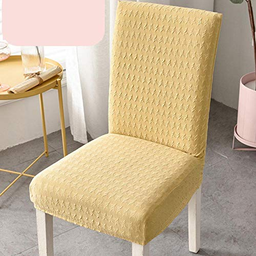 LLAAIT Super Thick Cotton Spandex Dining Chair Cover Stretch Universal High Back Chair Covers Machine Washable Chair Cover with Back