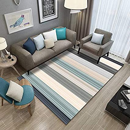Happves Rug Duck Egg Blue Kaleidoscope Geometric Modern Traditional Living Room Colorful And Fresh Thin Lines Home Designer Living Room Modern Border In Brown Beige Unbeatable 200x290cm Amazon Co Uk Kitchen Home