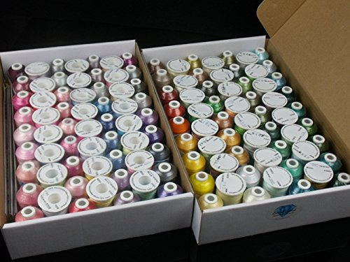 Check Out This Simthread 120 Spools Colors Polyester Embroidery Thread Polyester Filament Thread for...