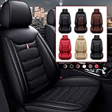 Car Seat Cover Fit for BMW 3 Series E46 E90 F30 E92 E93 GT Faux Leather Front Rear 5-seat Covers Non-Slip Waterproof Standard Edition(Balck