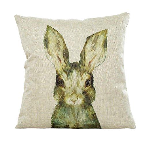 Kissenbezug 45 x 45 cm Tier Kaninchen kopfkissenbezüge Sofa Taille Lendenkissen Home Decor LuckyGirls
