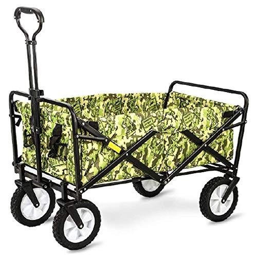 Faltbare Handcart Klapp Handcart, Transportwagen Garten Wagen Picknick Wagen um 360 ° drehbar, Camping Wagen