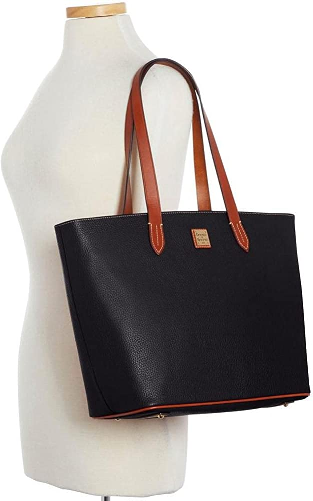 Large Zip Shopper Black