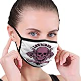Lowrider Skull Motor Emblem Halftone Mouth Face Mask Anti Breathable Filter Dust Absorb Sweat Washable Reusable Masks