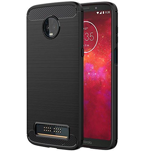 Simpeak Funda Compatible para Motorola Moto Z3 Play (6,01 Pulgadas), Funda Silicona Premium Suave TPU…