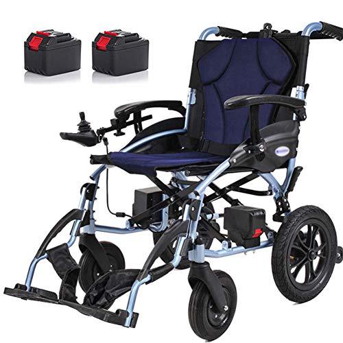 APOAD Elektrischer Rollstuhl, Intelligente Automatische Faltbar Elektrorollstuhl,15kg Aluminiumlegierung Faltbar Tragbare,sitzbreite 46cm,abnehmbare Lithiumbatterie,für ältere Und Behinderte Menschen