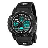 Sports Digital Watch for Kids Gifts for 5-12 Year Old Boys, Waterproof Sports Digital Watches for Boys Age 5-10 Birthdy Gifts Outdoor Toys Age 5-12 Birthday Gifts Easter Basket Stuffers, Black