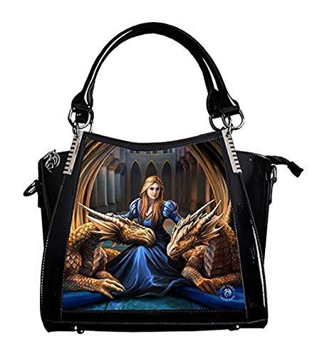 Fierce Loyalty - Dragon Lenticular 3D Handbag by Anne Stokes