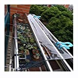 LIUNA Lona Impermeable al Aire Libre de la Cortina de la Lona Clara Cortina divisoria 100% Resistente a la Intemperie para Cubierta de Planta de jardín al Aire Libre pérgola casera del (Size:3x3m)