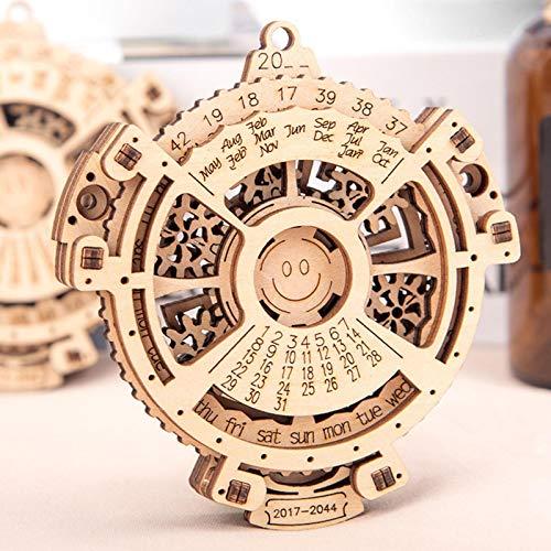 Rompecabezas De Madera, Rompecabezas De Madera Engranaje Mecánico Calendario Perpetuo Rompecabezas 3D Modelo Mecánico Juguetes De Construcción Regalo para Niños De 14 Años En Adelante